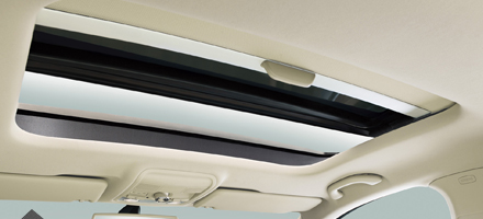 Panoramic electric sunroof with bounce-back system